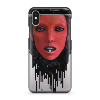 Чехол для iPhone X Atomic Red
