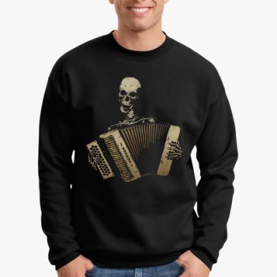 Свитшот Скелет играет на аккордеоне
