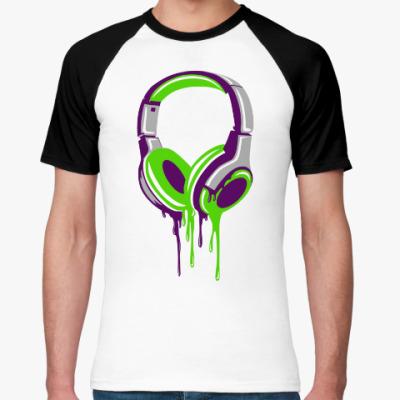 Футболка реглан наушники  headphones