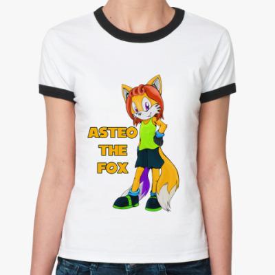 Женская футболка Ringer-T  'Астео'