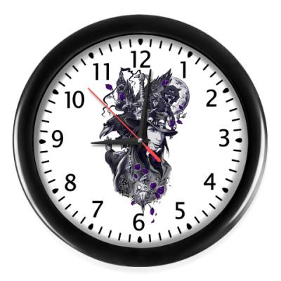 Настенные часы Лиловая мистерия