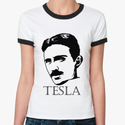 Женская футболка Ringer-T Tesla