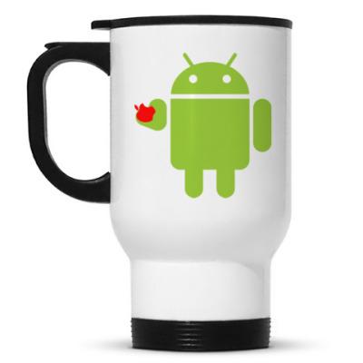 Кружка-термос Андроид с яблоком