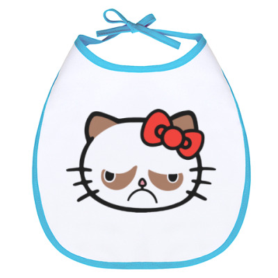 Слюнявчик Hello Grumpy Cat