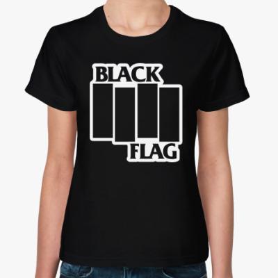 Женская футболка Black Flag