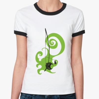 Женская футболка Ringer-T Беримбау