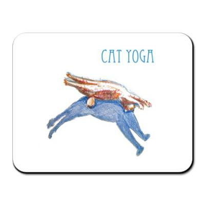 Коврик для мыши Кошачья йога