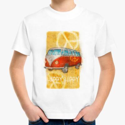 Детская футболка машина хиппи