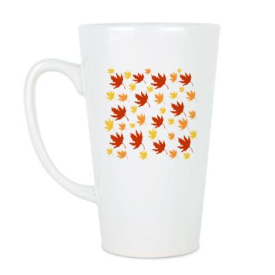 Чашка Латте 'Листья'