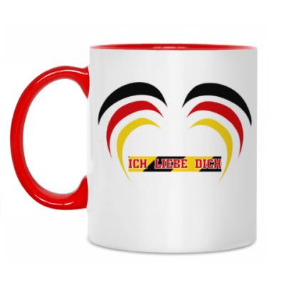 Кружка Я люблю тебя по-немецки