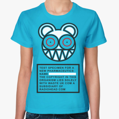 Женская футболка Radiohead