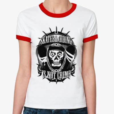Женская футболка Ringer-T Skate  Ж(б/к)