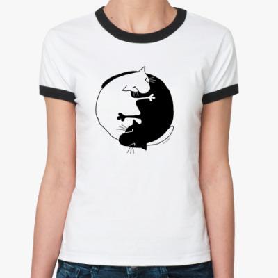 Женская футболка Ringer-T  ж Инь-Ян