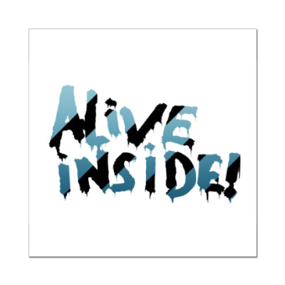 Наклейка (стикер) alive inside