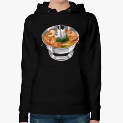 Женская толстовка худи Суп Том ям - самый острый символ Таиланда!