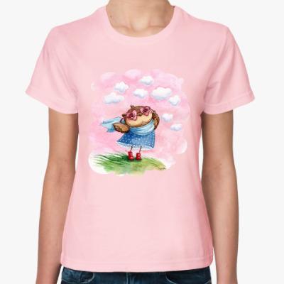 Женская футболка В розовых очках