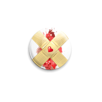 Значок 25мм Bleeding Heart  25 мм