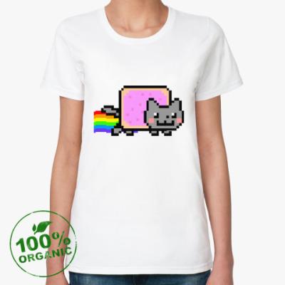 Женская футболка из органик-хлопка  NyanCat