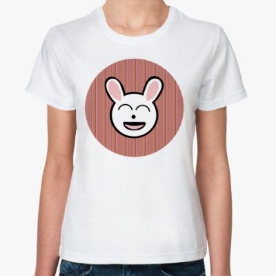 Классическая футболка  funny bunny