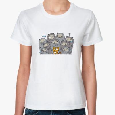 Классическая футболка  '9 жизней'