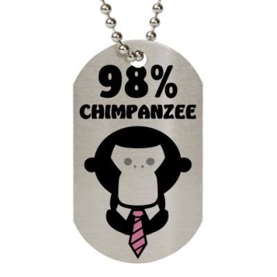 Жетон dog-tag 98% шимпанзе