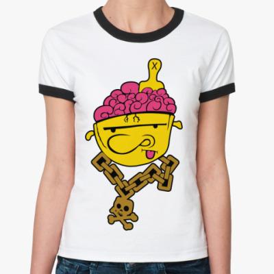 Женская футболка Ringer-T   Crazy
