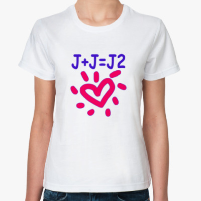 Классическая футболка Supernatural Дженсен + Джаред