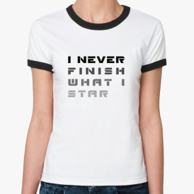 Женская футболка Ringer-T Без конца