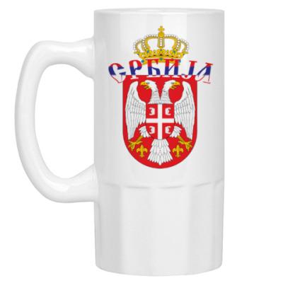 Пивная кружка Малый герб Сербии