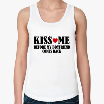 Женская майка Kiss Me