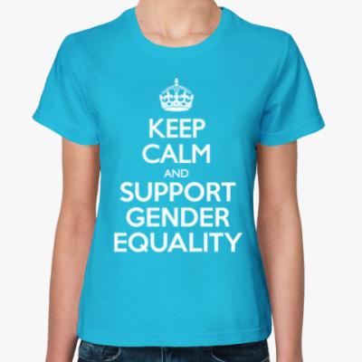 Женская футболка Gender equality
