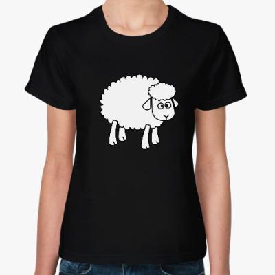 Женская футболка Овца