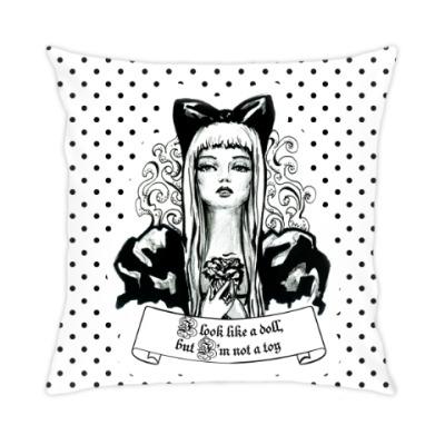 Подушка Фэшн иллюстрация кукла