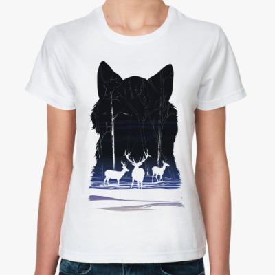 Классическая футболка Снежные олени