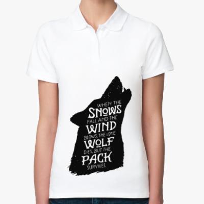 Женская рубашка поло Игра престолов Дом Старков