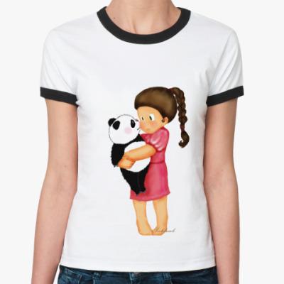 Женская футболка Ringer-T Girl&Panda