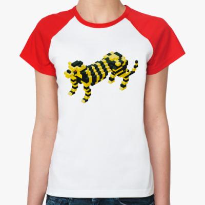 Женская футболка реглан   'Лего-Тигр'