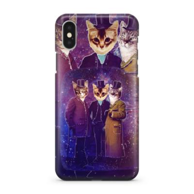 Чехол для iPhone X Три космических кота