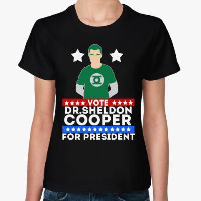 Женская футболка Шелдон Купер