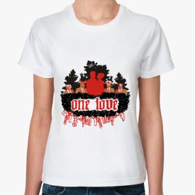 Классическая футболка one love