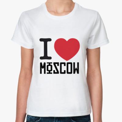 Классическая футболка Москва Жен футболка