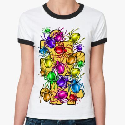 Женская футболка Ringer-T паучки