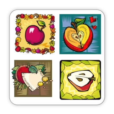 Костер (подставка под кружку) яблоки