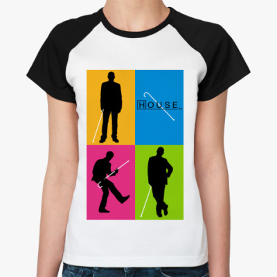 Женская футболка реглан House PopArt