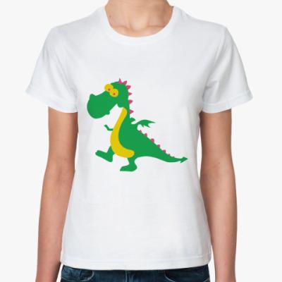 Классическая футболка Весёлый дракончик