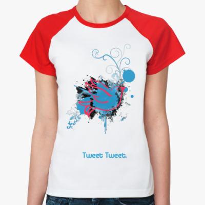 Женская футболка реглан Tweet  Ж ()