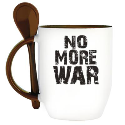 Кружка с ложкой Нет войне