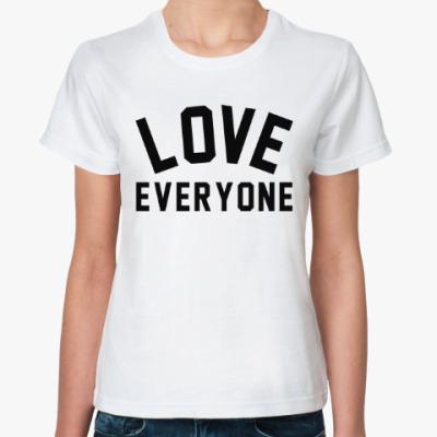 Классическая футболка Люби каждого
