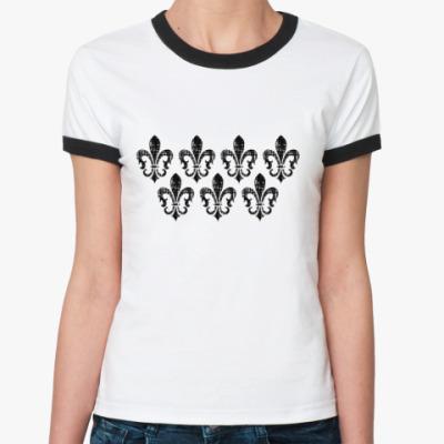 Женская футболка Ringer-T 7 королевских лилий