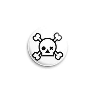 Значок 25мм Skull  25 мм